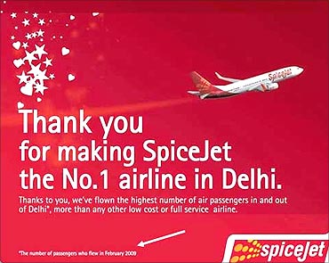 SpiceJet's advertisement.