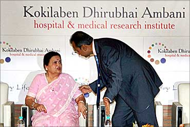 Anil Ambani with mother Kokilaben.