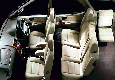 Interior view of Tata Safari.