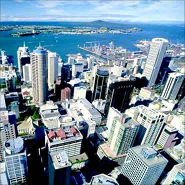 Cityscape of Auckland.