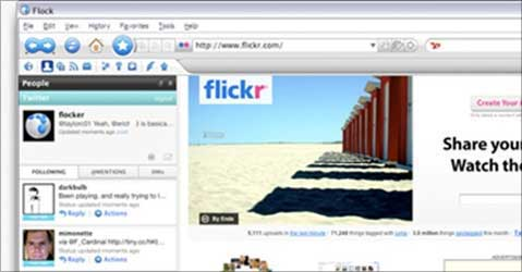 Flock, good for social networking.