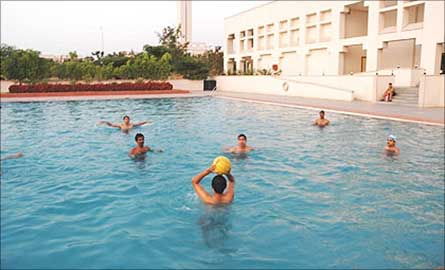 Swimming pool at ISB.