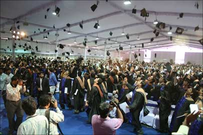 Gradution ceremony at ISB.