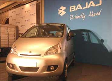 Prototype of the Bajaj car.