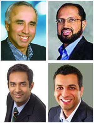 Photographs: (Clockwise) Deepak Kamra, Ajay Chopra, Ravi Belani, and Karan Mehanderu.