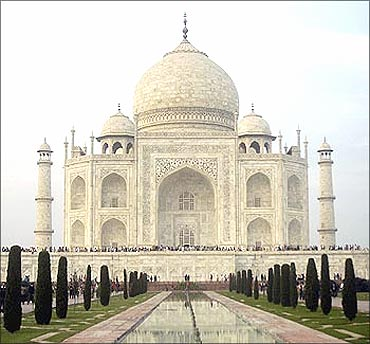 The Taj Mahal at Agra.
