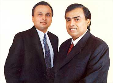 Anil Ambani and Mukesh Ambani.