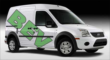 Ford Transit electric van.