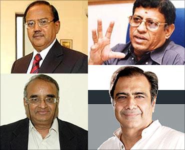 Ajit Doval, S Gurumurthy, R Vaidyanathan, Mahesh Jethmalani