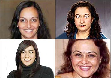 Top (L to R): Sujata Murthy, Superna Kalle, Bottom (L to R): Roma Khanna, Vandana Malik.