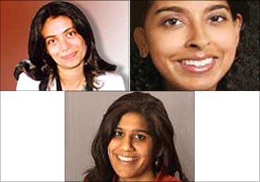 Top (L to R): Zarina Mehta, Latha Sundaram, Bottom: Selina Tobaccowala