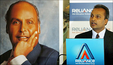 Anil Ambani, chairman of Anil Dhirubhai Ambani group, speaks at a press conference.