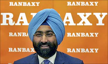 Malvinder Singh speaks during a news conference in New Delhi.
