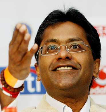 IPL Commissioner Lalit Modi.
