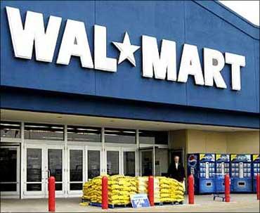 A Walmart store.