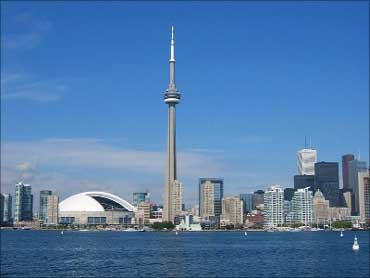 Skyline of Toronto, Canada.
