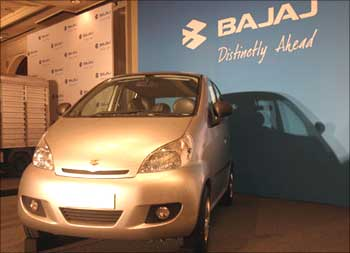 The Bajaj small car prototype.