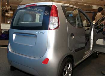 Bajaj small car.