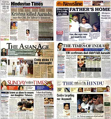 combination photo of India newspapers.