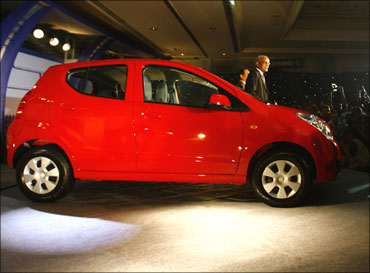 A newly-launched hatchback from the Maruti stable.