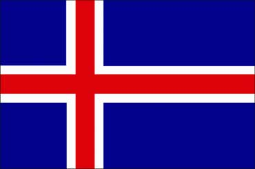 Iceland flag.