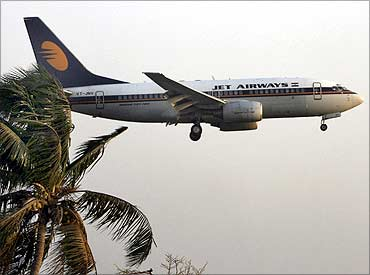 A Jet Airways flight.