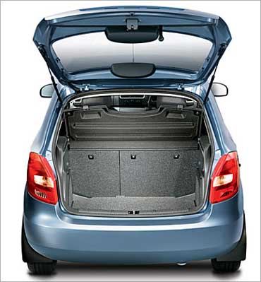 The trunk of Skoda Fabia.