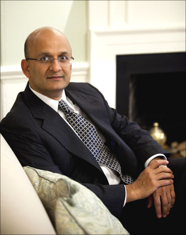 Image: Nitin Nohria, the newly appointed dean of Harvard Business School. Photograph: Stephanie Mitchell/Harvard University News Office/Handout/Reuters