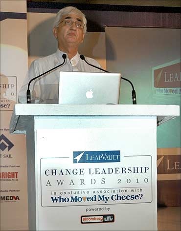Salman Khurshid, Minister of Corporate affairs.