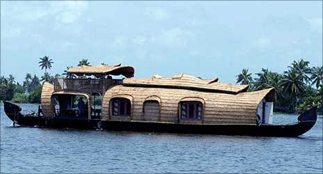 A houseboat in Kerala.