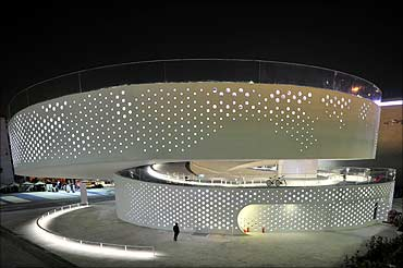 A view of the the Denmark pavilion at the Shanghai World Expo site.