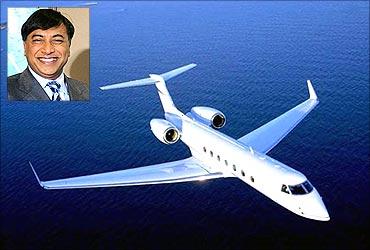 (Inset) L N Mittal.
