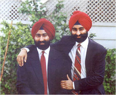 Malvinder with his brother Shivinder Singh.