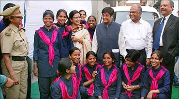 For-She team with Kiran Bedi.