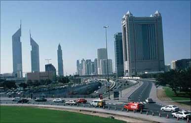 Dubai skyline.