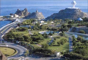 Skyline of Oman.