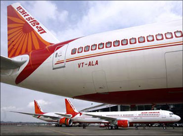 An Air India Boeing.