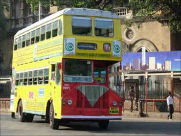 BEST bus in Mumbai.