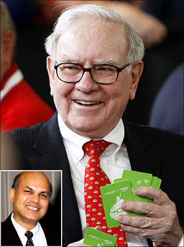 Berkshire Hathaway chairman Warren Buffett. (Inset: Prem Jain)