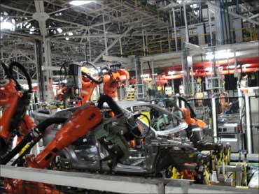 Robots at Ford plant.
