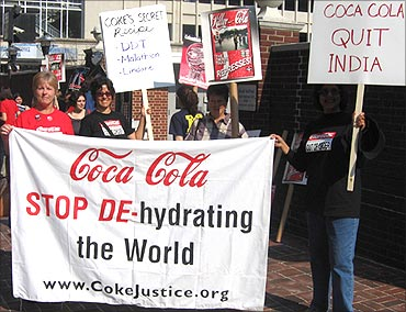 Protests against Coca-Cola.