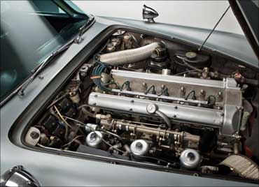 Engine of the car.