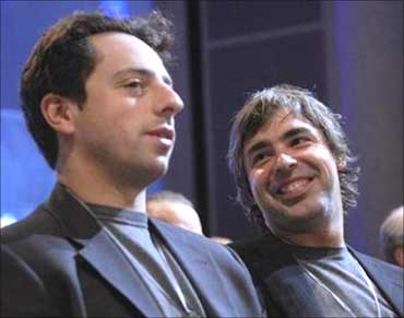 Sergey Brin (L) and Larry Page.
