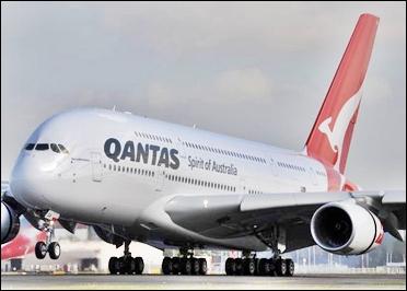 A Qantas aircraft.