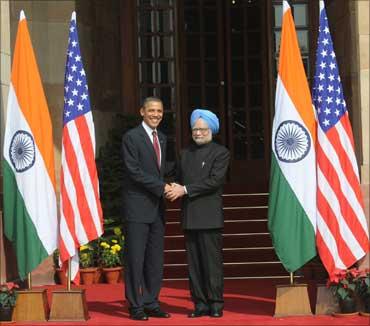Prime Minister Manmohan Singh and US President Barack Obama.