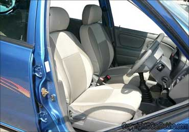 An interior view of Maruti Alto.