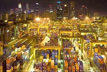 Singapore port.