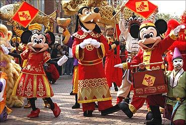 Disneyland in Hong Kong.