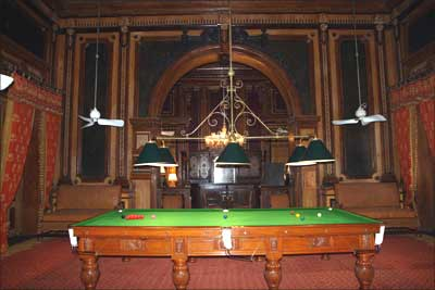Nizam's antique billards table.