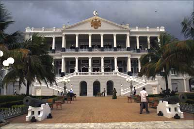 The Falaknuma Palace hotel in Hyderabad